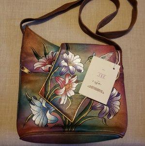 Sova Bags   Hand Painted Leather Crossbody Purse   Poshmark bc23445cf5